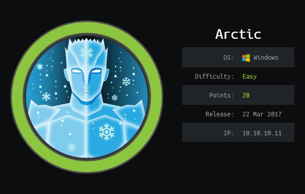 HackTheBox Writeup: Arctic - Offsec Deer